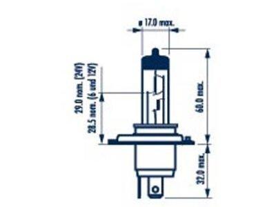 Žarulja Narva H4 12V/60/55W +50% RangePower - NAR48861