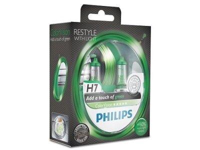 Žarulja Philips H7 ColorVision Green - PH12972CVPGS2 (2 komada)