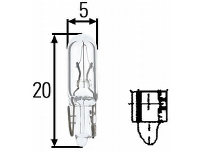 Žarulja W1, 2W SRL