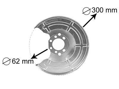 Zaštita od prašine (zadnja) BMW 3 E46 01-05 Limo/Kar