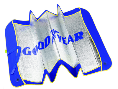 Zaštita od sunca za vjetrobransko staklo, 0 x 130 cm, Goodyear, alu