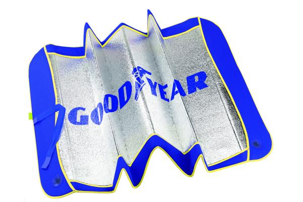Zaštita od sunca za vjetrobransko staklo, 60 x 130 cm, Goodyear, alu