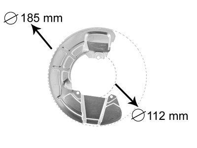 Zaštitni lim kočnica (prednji) Volvo S70/V70 97-