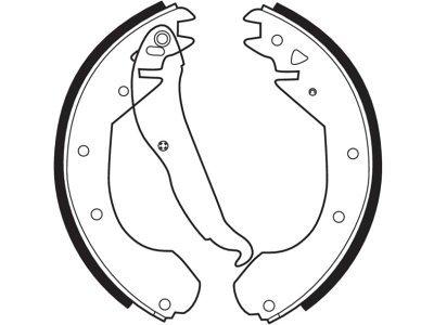 Zavorna čeljust 164797 - Opel