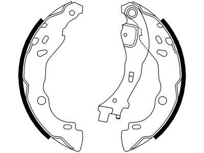 Zavorna čeljust 164815 - Citroen, Lancia, Peugeot