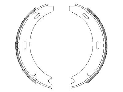 Zavorna čeljust 42196 - Mercedes