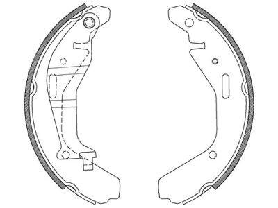 Zavorna čeljust 90597 - Opel