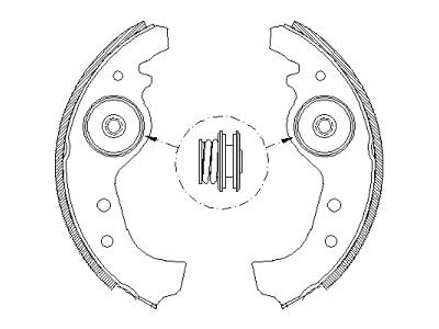Zavorna čeljust S72-1004 - Fiat