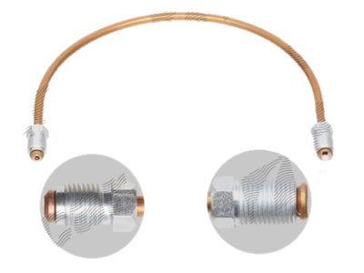 Zavorna cev S76-0030AD bakrena, 300mm