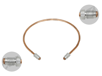Zavorna cev S76-0050AA, M10X1, bakrena