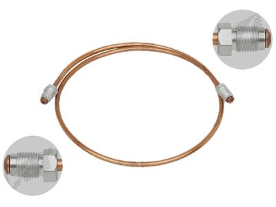 Zavorna cev S76-0080AA, M10X1, bakrena, 800mm