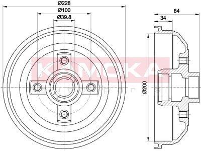 Zavorni boben 104005 - Opel Corsa A, B 82-00