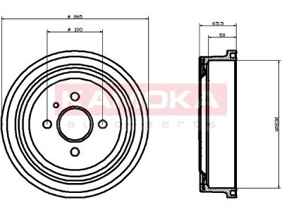 Zavorni boben 104016 - Opel Astra F 91-05