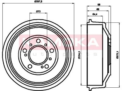 Zavorni boben 104017 - Fiat Ducato 82-06
