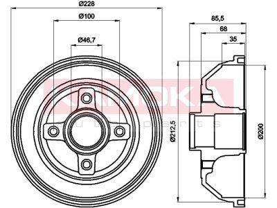 Zavorni boben 104032 - Opel Corsa C 00-09