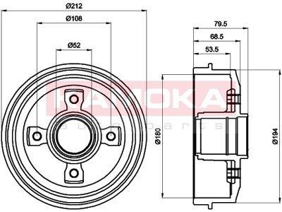 Zavorni boben 104044 - Peugeot 306 93-00