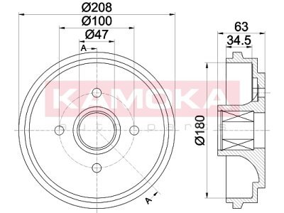 Zavorni boben 104046 - Opel Agila 00-07