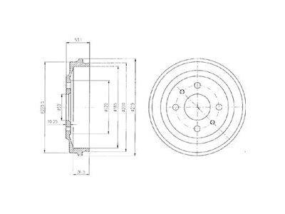 Zavorni boben BF136 - Lancia Y10 85-95