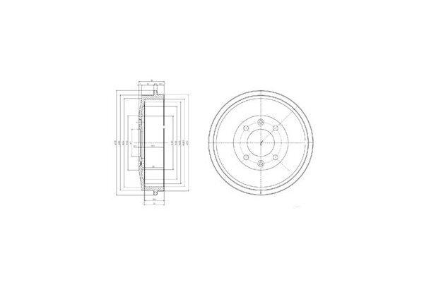 Zavorni boben BF169 - Citroen Xsara 97-05