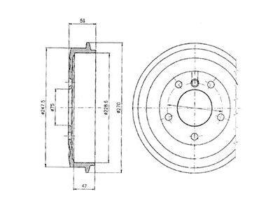 Zavorni boben BF275 - BMW Serije 3 90-99