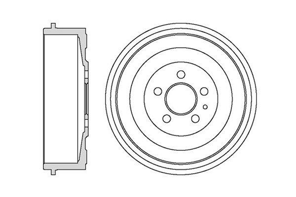 Zavorni boben BF325 - Fiat Ulysee 02-