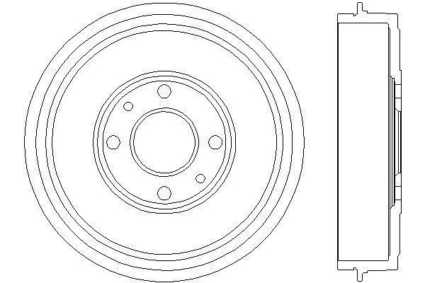 Zavorni boben BF379 - Alfa Romeo 145 94-00