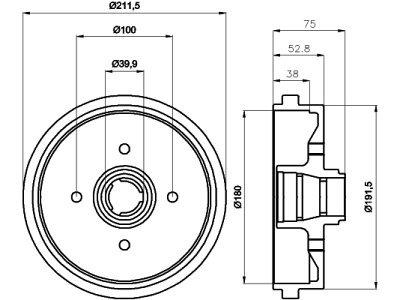 Zavorni boben S73-1002 - VW