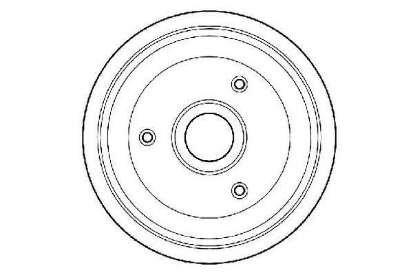 Zavorni boben S73-1015 - Citroen
