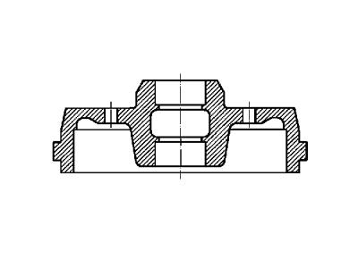 Zavorni boben S73-1026 - Ford