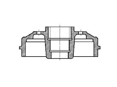 Zavorni boben S73-1028 - Renault