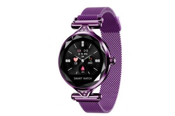 Ženska pametna ura H1, pedometer, krvni tlak, Bright Purple