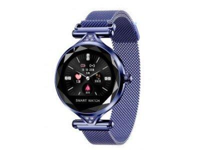 Ženska pametna ura H1, pedometer, krvni tlak, Starry Blue