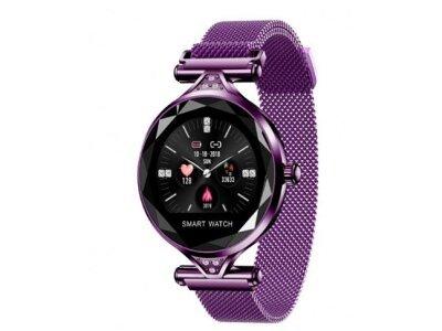 Ženski pametni sat H1, brojač koraka, mjerač srčanog otkucaja, Bright Purple