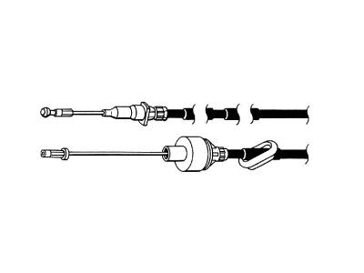 Žica kvačila Ford Transit, 85-00, 1385 mm