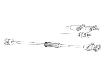 Žica kvačila Peugeot 106 96-03, 1463 mm