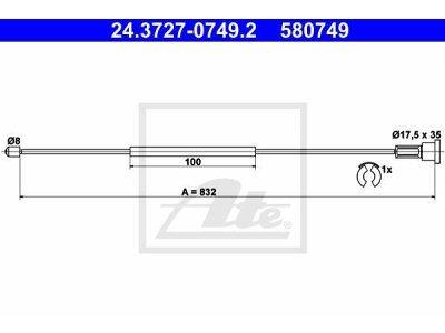Žica ročne kočnice - Opel Corsa 00-09