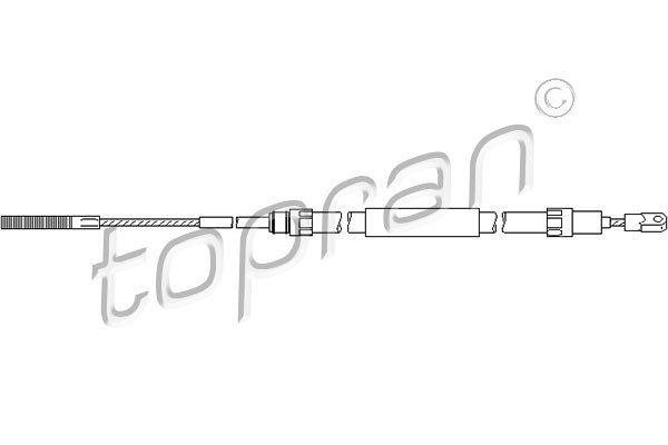 Žica ročne zavore BMW Serije 3 (E36) 90-00, zadaj, 1683/1092 mm