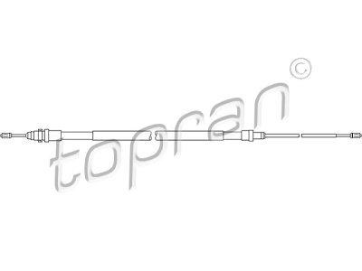 Žica ročne zavore Citroen C2 03-, zadaj, 1700/935 mm