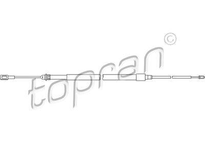 Žica ročne zavore Citroen C5 01-, zadaj, 1840/475 mm