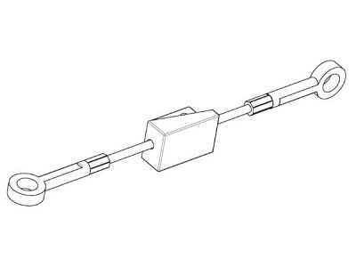 Žica ročne zavore Ford Escort 85-95,spredaj, 150 mm