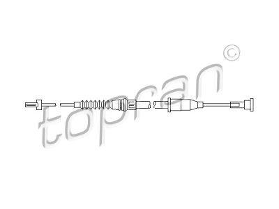 Žica ročne zavore Opel Corsa 00-06, zadaj, desno