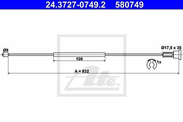 Žica ročne zavore - Opel Corsa 00-09