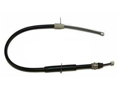 Žica ročne zavore Peugeot 406 95-04, zadaj, desno, 750/547 mm