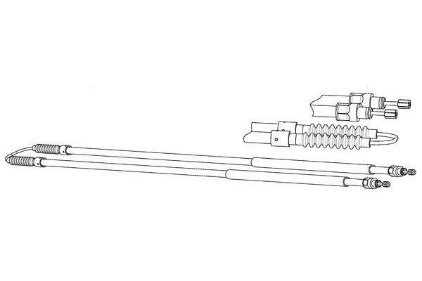 Žica ručne kočnice Citroen Jumper 94-02, stražnji, 2806 mm