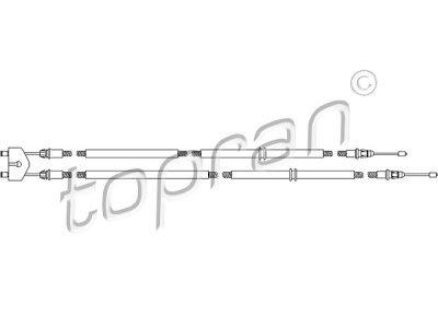 Žica ručne kočnice Ford Fusion 02-12, sredina