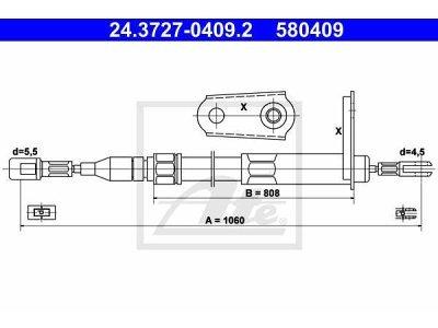 Žica ručne kočnice - Mercedes-Benz Razred E 85-95