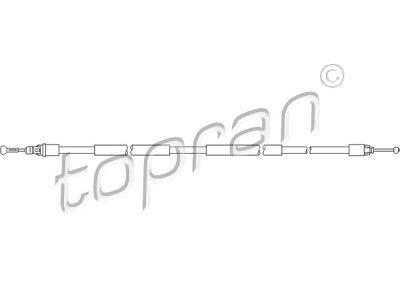 Žica ručne kočnice Nissan Primastar 02-10, natrag, desno, 1603mm