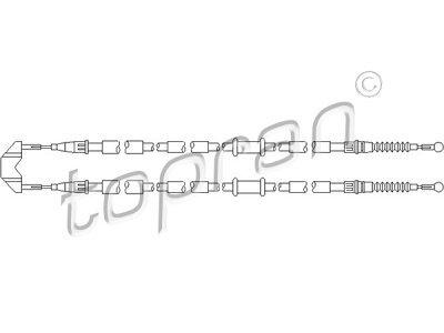 Žica ručne kočnice Opel Astra H 04-09, natrag