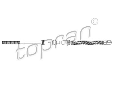 Žica ručne kočnice Opel Vectra 88-95, stražnji, lijevo, 756 mm