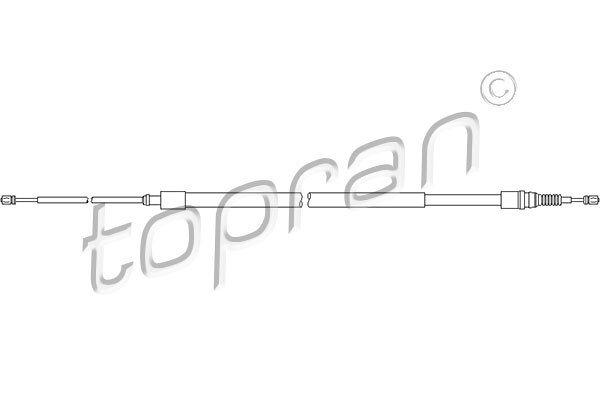 Žica ručne kočnice Peugeot 307 02-, natrag, 2115/1316 mm